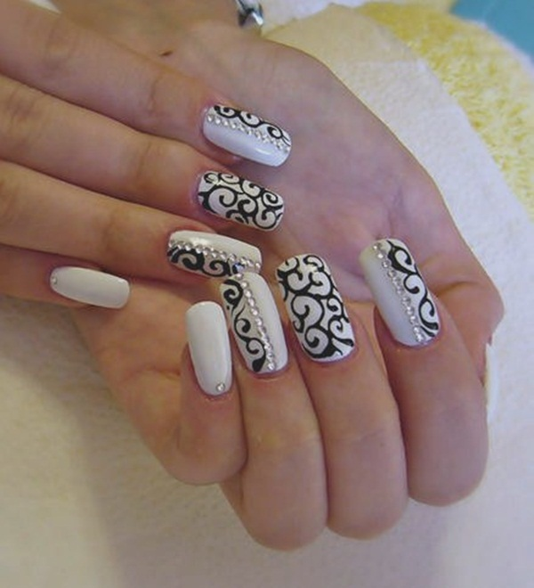 67b2d9c97 87 of the Most Stunning Black and White Nail Art Designs You've Ever ...