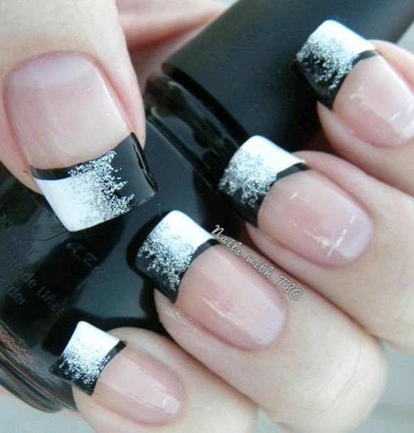 Most Attractive black and white nail art designs (9)