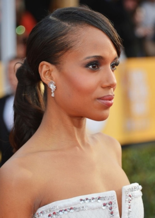 LOS ANGELES, CA - JANUARY 27: Actress Kerry Washington arrives at the 19th Annual Screen Actors Guild Awards held at The Shrine Auditorium on January 27, 2013 in Los Angeles, California. (Photo by Alberto E. Rodriguez/Getty Images)