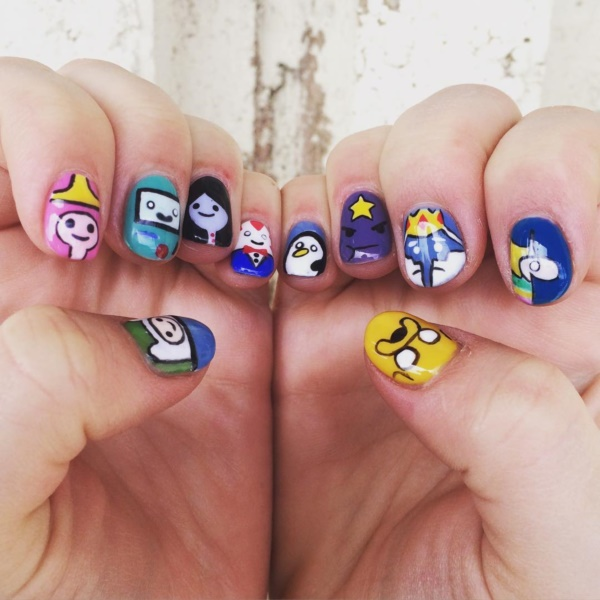 cartoon nail arts0031