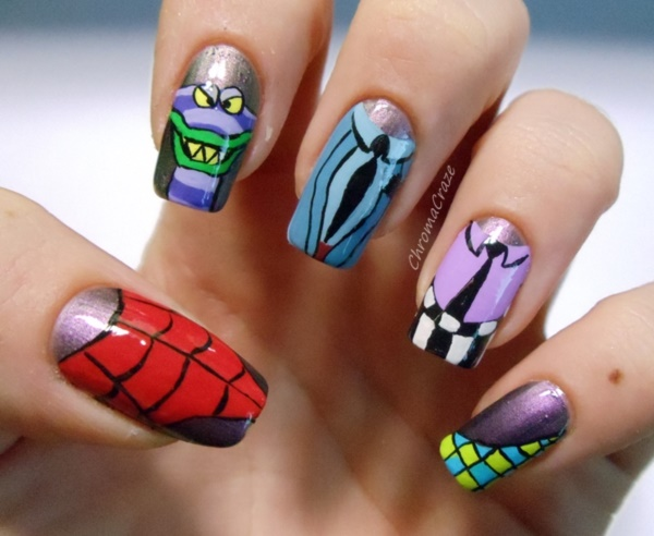 cartoon nail arts0041