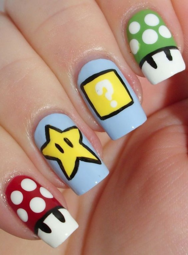 cartoon nail arts0061