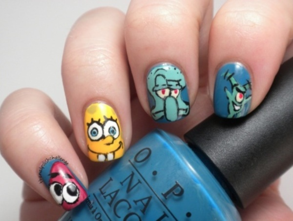 cartoon nail arts0081