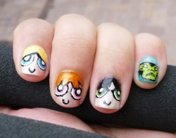 cartoon nail arts0091