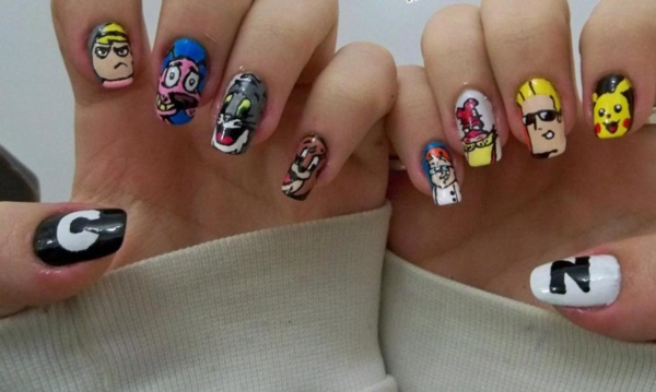 cartoon nail arts0101