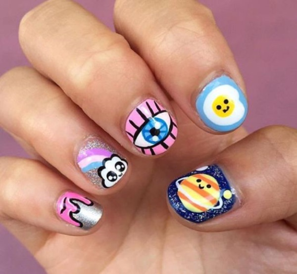 cartoon nail arts0141