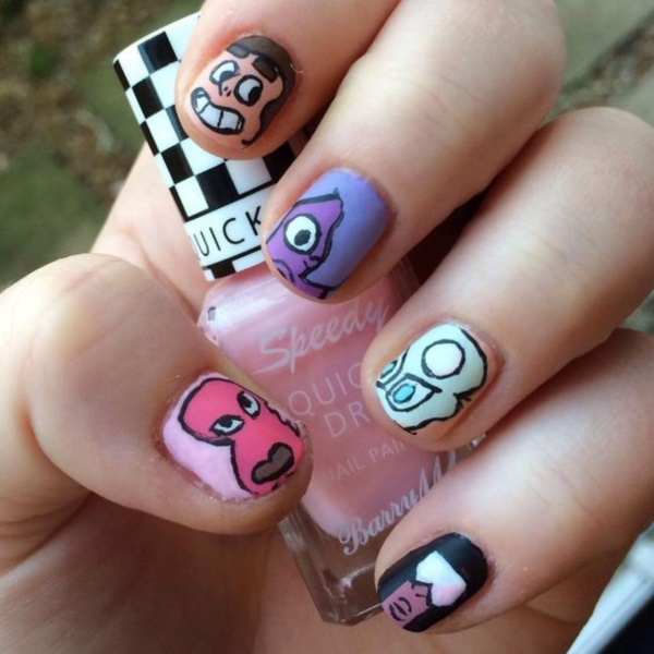 cartoon nail arts0161