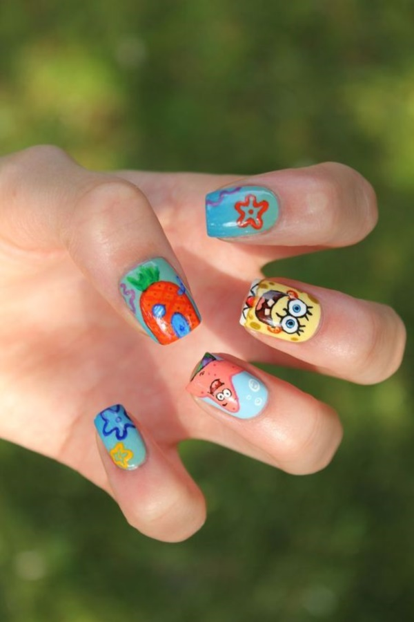 cartoon nail arts0241