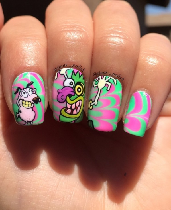 cartoon nail arts0351