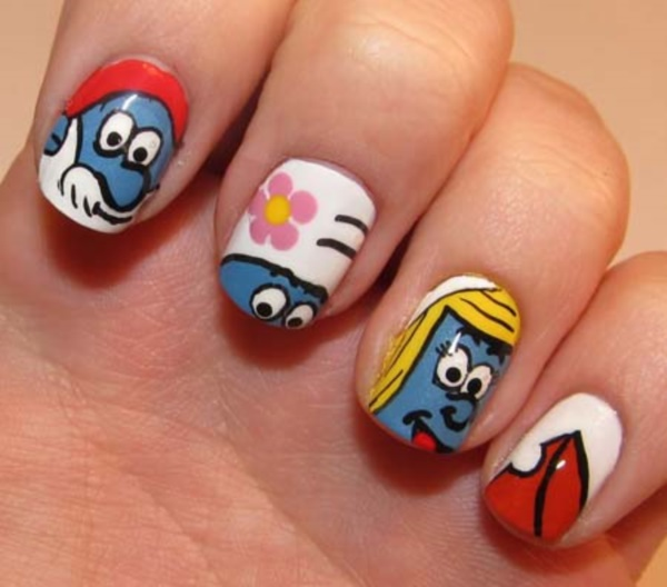 cartoon nail arts0381