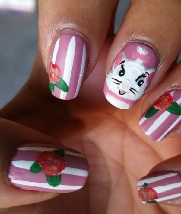 cartoon nail arts0391