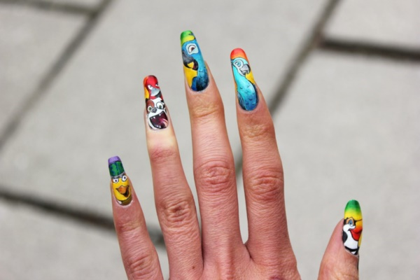 cartoon nail arts0421