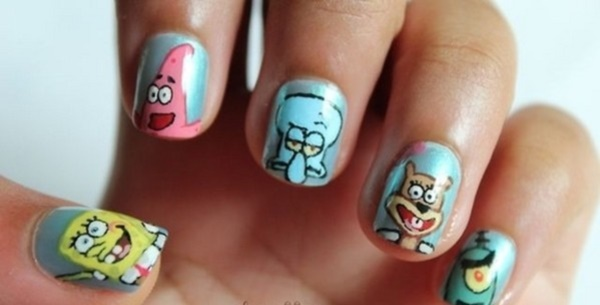 cartoon nail arts0441