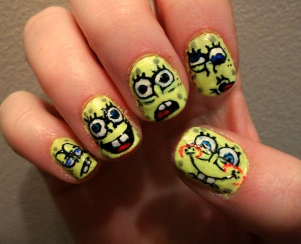 cartoon nail arts0451