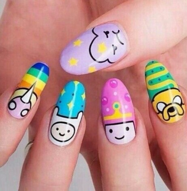 cartoon nail arts0521