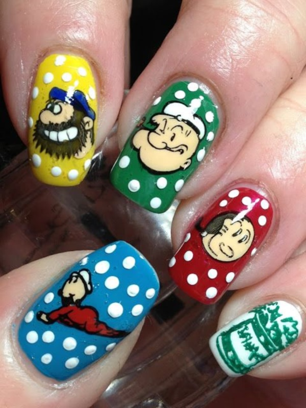 cartoon nail arts0551