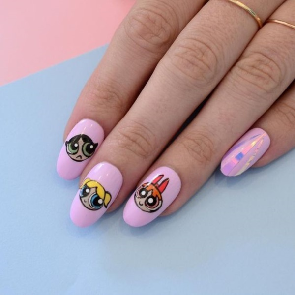 cartoon nail arts0581