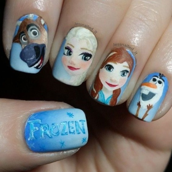 cartoon nail arts0611