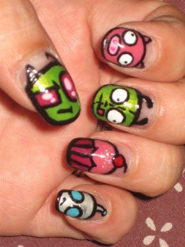cartoon nail arts0631