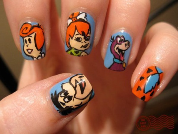 cartoon nail arts0641
