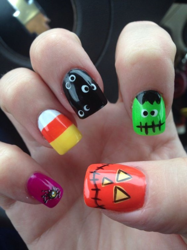 cartoon nail arts0651