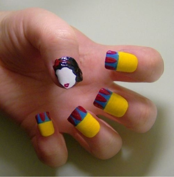 cartoon nail arts0661