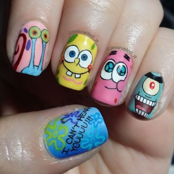 cartoon nail arts0701