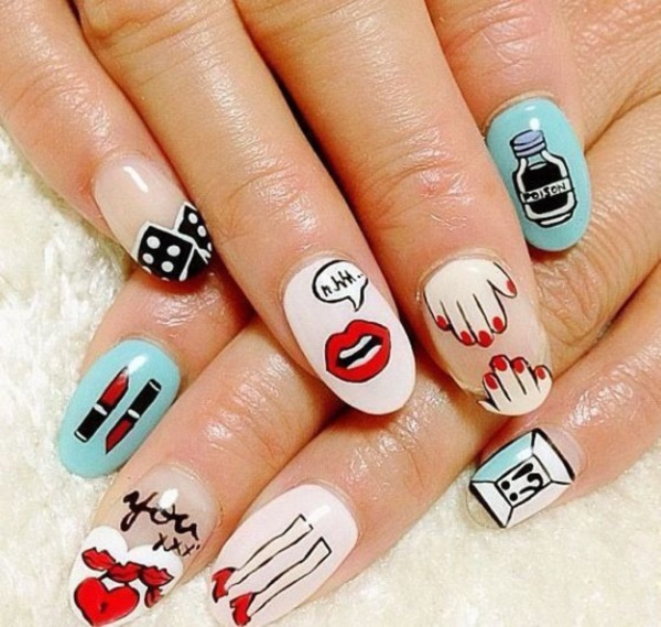 cartoon nail arts0711