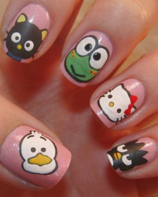 cartoon nail arts0721