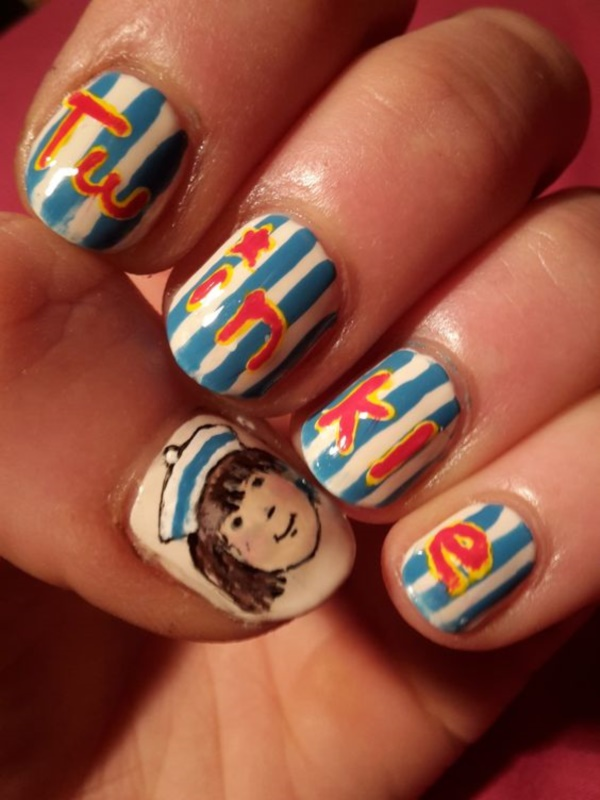 cartoon nail arts0761