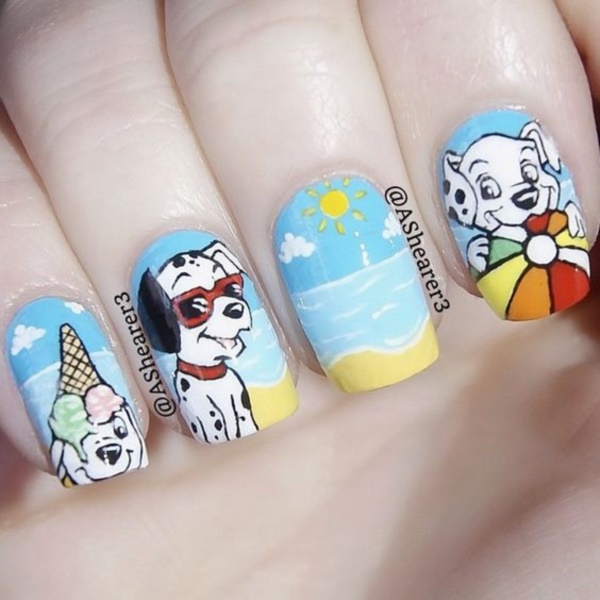 cartoon nail arts0801