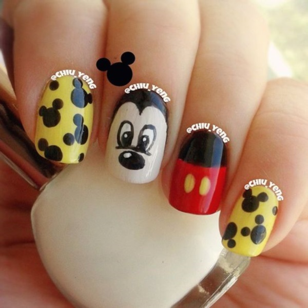 cartoon nail arts0811