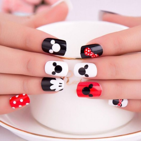 cartoon nail arts0821