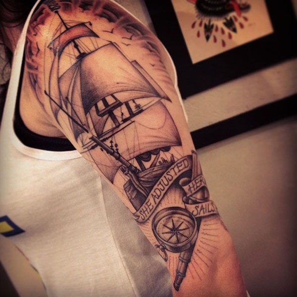 boat tattoo designs (19)