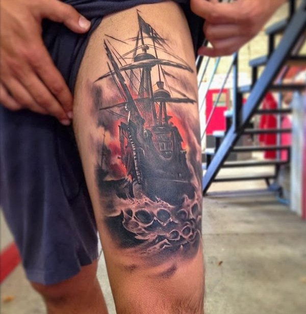 boat tattoo designs (39)