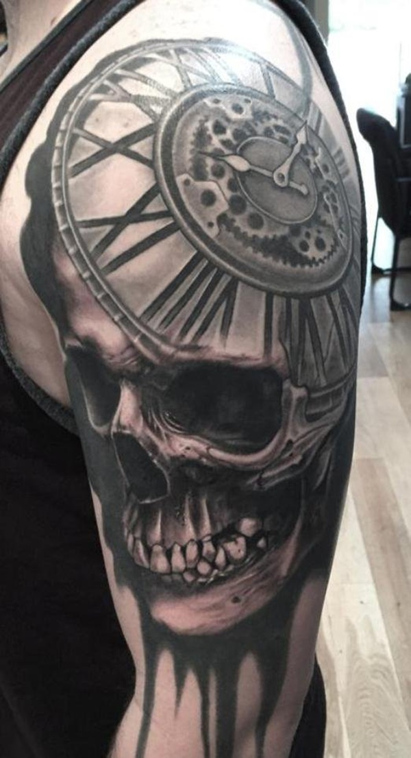 069d60929 99 Unbeatable Clock Tattoo Designs To Try Once
