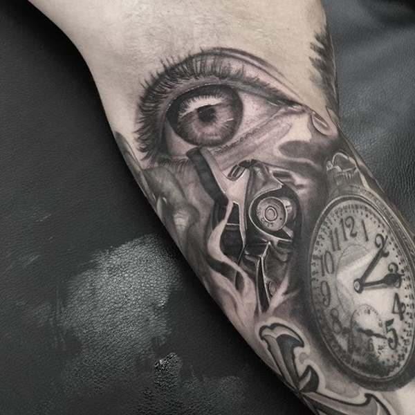 clock tattoo designs (108)