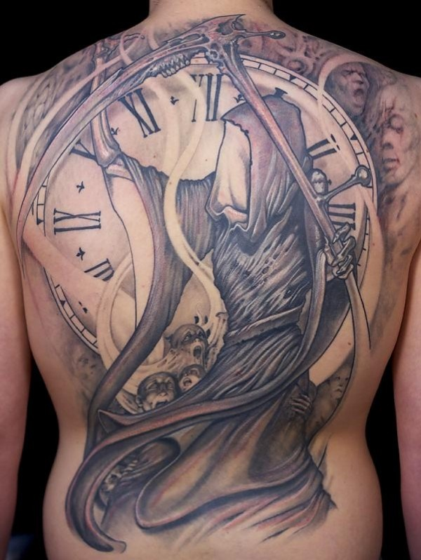 clock tattoo designs (19)