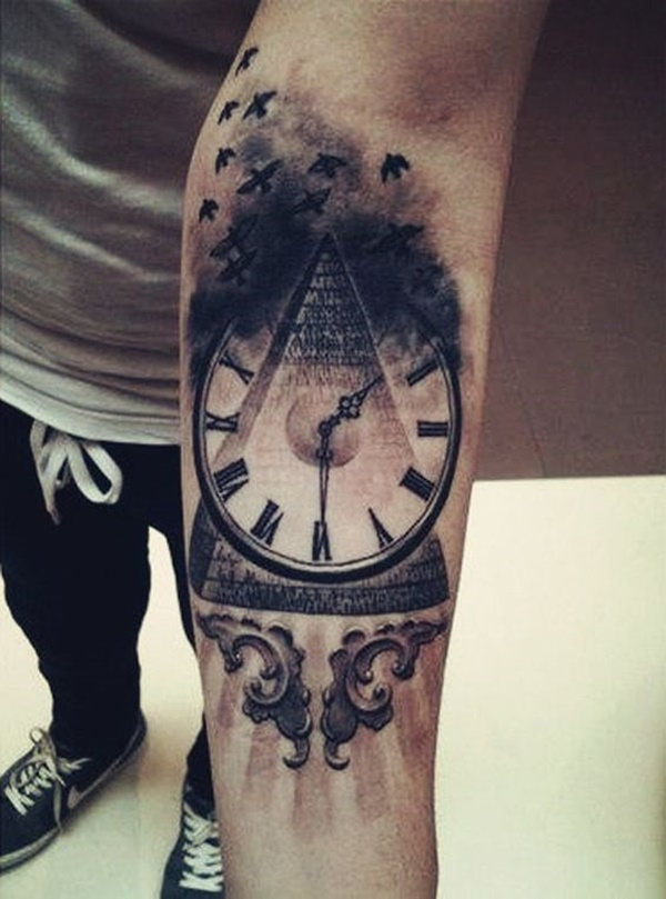 clock tattoo designs (2)
