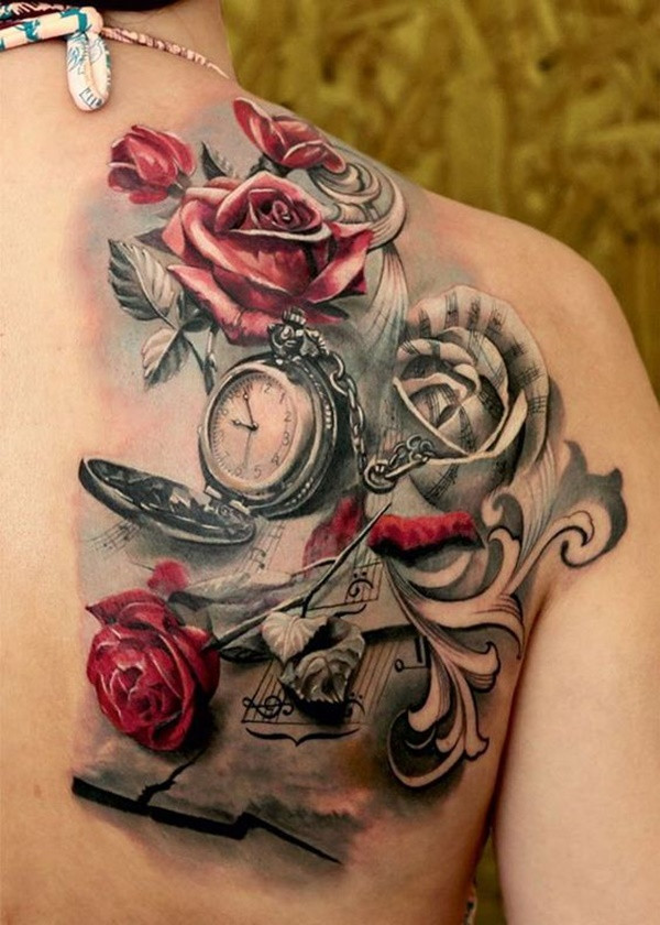 clock tattoo designs (20)