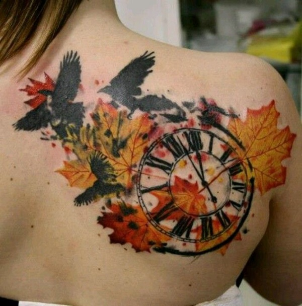 clock tattoo designs (32)
