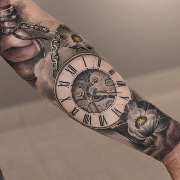 clock tattoo designs (33)