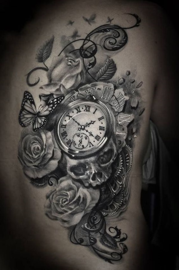clock tattoo designs (34)