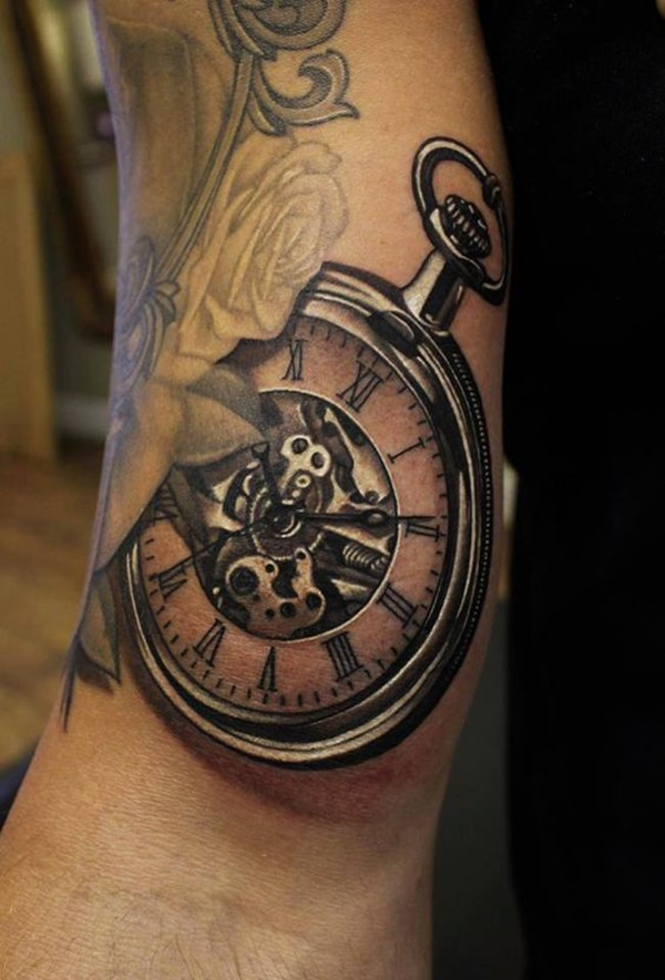 clock tattoo designs (37)