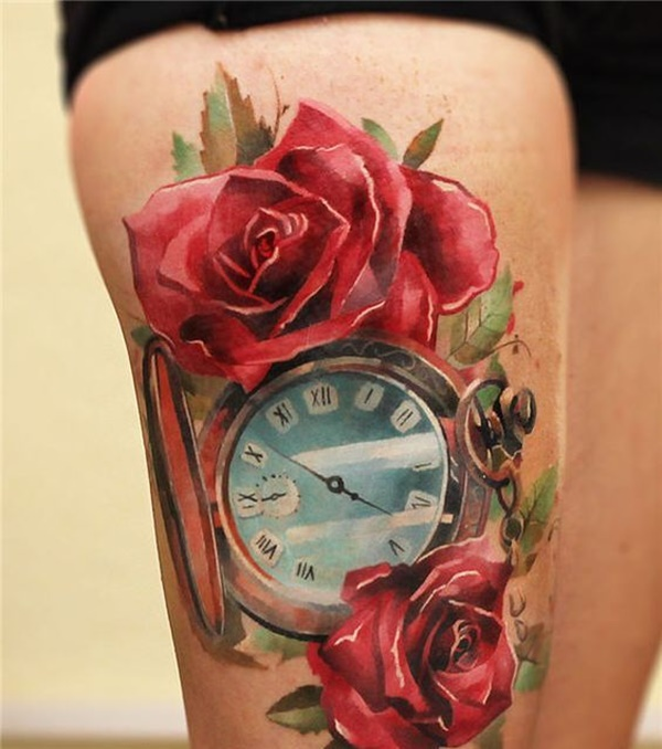 clock tattoo designs (38)