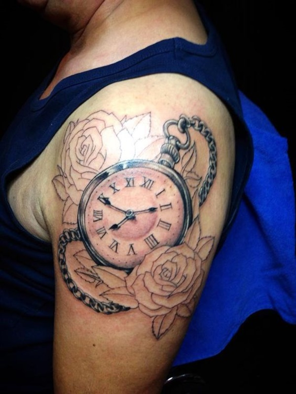 clock tattoo designs (39)