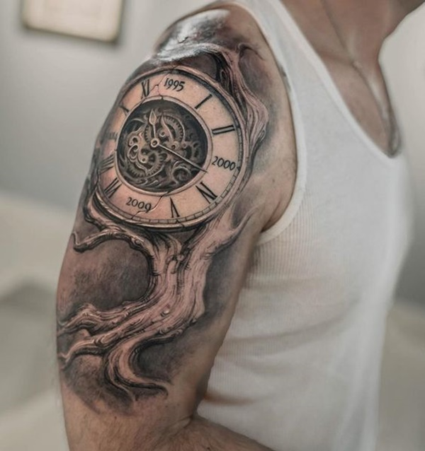 clock tattoo designs (42)