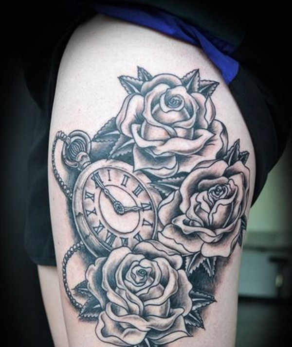 clock tattoo designs (43)
