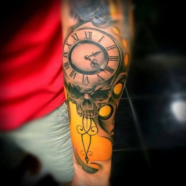 clock tattoo designs (48)