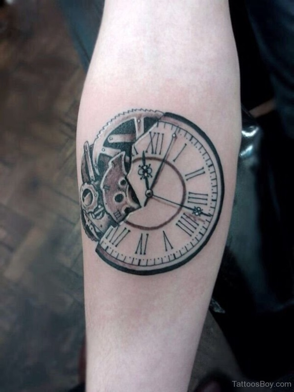 clock tattoo designs (57)